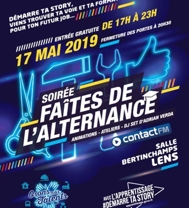 Soirée Faîtes de l'Alternance le 17 mai à Lens !