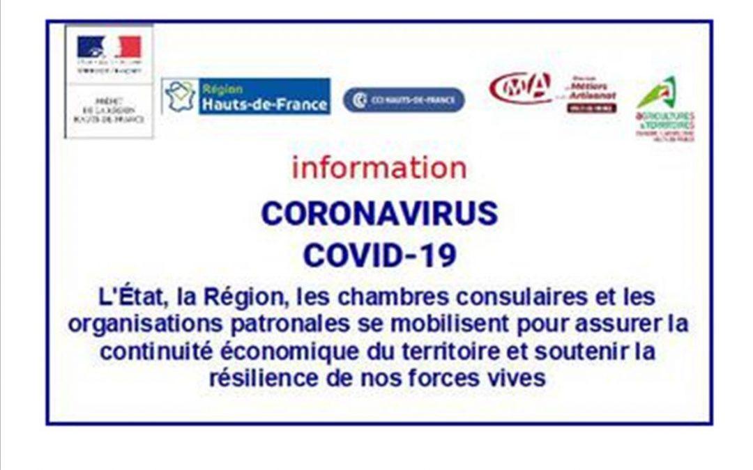 COVID-19 : Les Hauts-de-France se mobilisent pour assurer la continuité économique du territoire et soutenir les entreprises