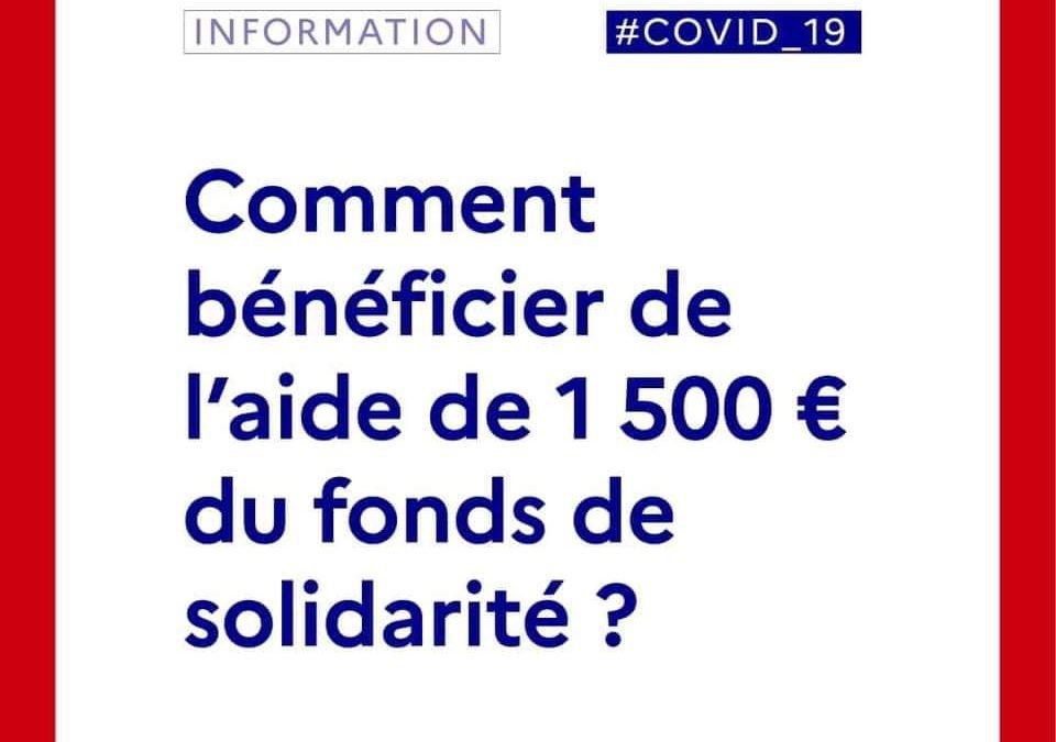 COVID-19 : Fonds de Solidarité